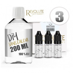 Pack 200 ml DIY 3 mg  en GV Revolute